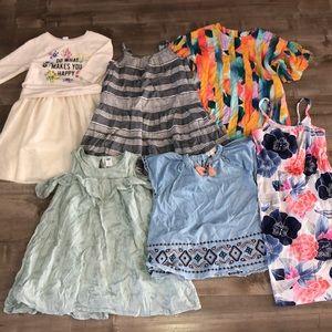 EUC kids girls spring/summer dress bundle size 5